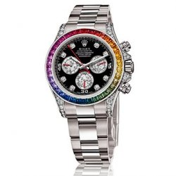 Часы Rolex White Gold Daytona Rainbow